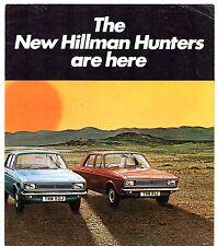Hillman Hunter 1970-71 UK lancio sul mercato PIEGA BROCHURE DE LUXE SUPER GL GT EST