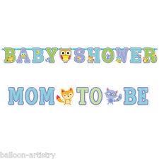 Foresta divertente foresta WELCOME Baby Shower MOM per essere partito lettera Banner Set
