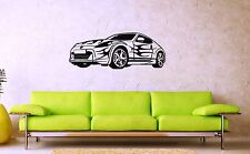 Wall Sticker Vinyl Decal Sports Car Racing Rally Speed Flames (ig1221)