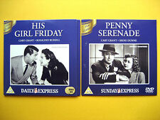 HIS GIRL FRIDAY/PENNY SERENADE, A DAILY/SUNDAY EXPRESS PROMOTIONS  (2 DVD'S)