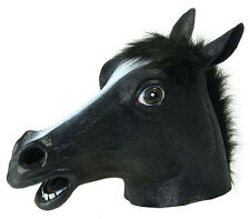 BLACK DEATH APOCALYSPE HALLOWEEN HORSE COSTUME MASK HEAD PONY LATEX BEAUTY NEW