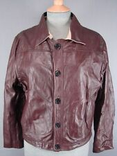 VINTAGE 1970's CHELSEA MAN CLASSIC DARK BROWN LEATHER BOMBER JACKET 42 INCH