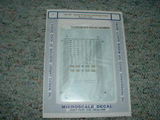 Microscale decals N 60-127 Santa Fe Scout Passenger Cars revised 5/93 A73