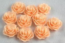 10pcs Peach Flowers Resin Flatbacks Scrapbooking Cabochons Jewelry Making Craft