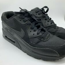 NIKE AIR MAX 90 BLACK TRAINERS SIZE UK 7.5 US 8.5