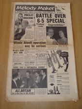 MELODY MAKER 1957 NOVEMBER 9 ELVIS PRESLEY SIX-FIVE SPECIAL SHIRLEY BASSEY HI-LO