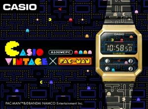 CASIO Pac-Man Collaboration model Limited A100WEPC-1BJR New special package PSL