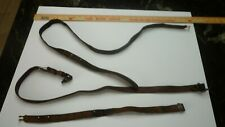 Brown leather adjustable strap 1 inch wide simple rifle slings 3 pieces