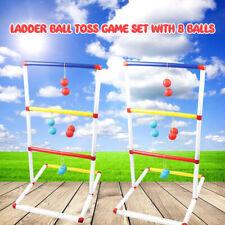 Light-Up Ladder Ball Toss Game Set with 8 Balls Outdoor Backyard Lawn Toss Game