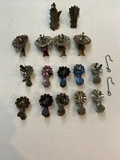 Lot of 16 - Antique Tin Christmas Tree Clip On Candle Holders - 3 Styles