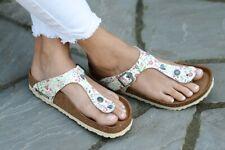 Birkenstock Sandals GIZEH Meadow Flowers beige white Soft-Footbed regular NEW
