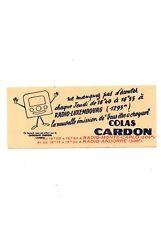 BUVARD / BLOTTING PAPER CHOCOLAT CARDON RMC RADIO LUXEMBOURG CHOCOLATE TOP