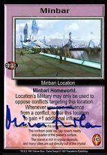 Babylon 5 Ccg Mira Furlan Premier Edition Minbar Autographed