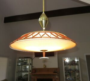 Vintage Imperialites Mid Century Modern Atomic Space Age Pull Down Chandelier