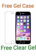 Apple Iphone 6 HD Vidrio Templado Vidrio templado con una Protector De Pantalla + Gel Estuche Gratis