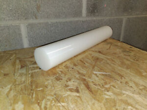 White Acetal Round Rod 1 inch Diameter: 1.000 x 60 inches long