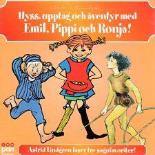 Audiolibro Emil Pippi Ronja svedese, Astrid Lindgren