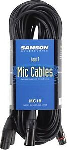 SAMSON MC18 - Pack of 3 Mic Cables 5.5m (18ft) **NEW**
