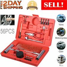 Car Tubeless Tire Puncture Repair Plug Repairing Kits Flat Patch Fix Tool 56PCS