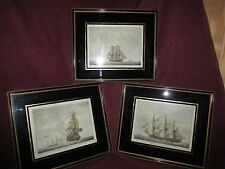 Antique English Maritime Nautical Ship Print. 3 Pieces 1795.