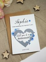 will you be our flower girl bridesmaid proposal card wedding scratch card WP18