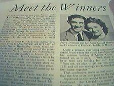 ephemera 1951 film competition winners joyce armitage gerald harrison