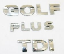 VW Golf Plus GOLF PLUS TDI Rear Boot Letters Decal As pictured