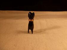 RARE BERNARD PASSMAN 18KT GOLD & BLACK CORAL CAT PENDANT ST THOMAS V. I. RETIRED