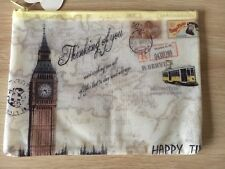 Big Ben Pencil Case Vintage Style A5 Cosmetic Pouch
