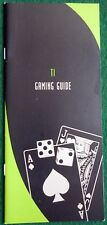 TI Las Vegas Souvenir Gaming Guide How To Play The Games Early Second  Version