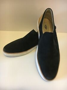 Women's UGG Australia ADLEY Black Loafers Fashion Sneakers #1015736 US Size 10