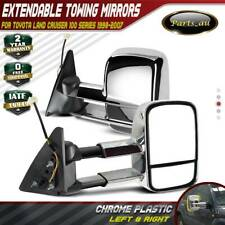 1 Pair Chrome Extendable Towing Mirrors for Toyota Landcruiser 100 Series