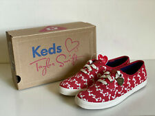 NEW! KEDS TAYLOR SWIFT CHAMPION BOW STRIPE RED CASUAL SHOES SNEAKERS 6.5 37 SALE
