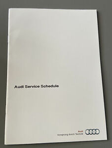AUDI BLANK SERVICE HISTORY SCHEDULE BOOK A1 A3 S3 Q3 TT A4 S4 A5 S5 Q5 Q7 A8 R8