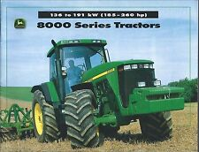 Farm Tractor Brochure - John Deere - 8100 et al - 8000 series - c1997 (F5392)