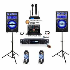 "Laptop w/ Dual 15"" Android/iphone/ipad/Laptop Pro Youtube Karaoke Machine/System"