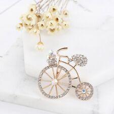 Fashion  Brooch Pin Cute Bike Bicycle Rhinestone Women Brooch Pin Jewelry