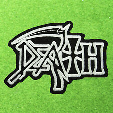 DEATH Heavy Metal Music Band Back Embroidered Easy Iron On Patch Punk Rock Speed