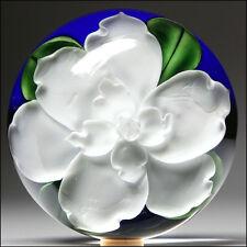 Daniel Salazar Lunderg Studio Art Glass Gardenia Lampwork Flower Paperweight