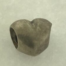 Authentic Pandora 925 ALE Sterling Silver HEART LOVE Charm 790137 RETIRED