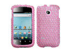 For Huawei Ascend II 2 M865 Crystal Diamond Bling HARD Case Cover Pink Dots