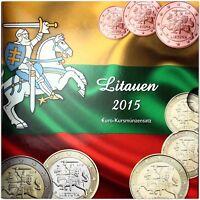 Litauen Euro KMS 2015 Sondersatz Vytis der Verfolger 1 Cent bis 2 Euro im Folder