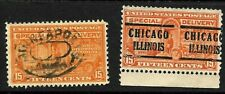 """Indianapolis IND Chicago ILL"" Precancel SON 15 Cent Special Delivery BOB 12B41"