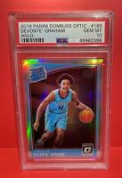 2018-19 Donruss Optic Holo Prizm #189 Devonte Graham Hornets RC Rookie PSA 10