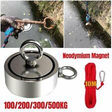 Neodym Bergemagnet Magnetangeln Angel Magnete 50KG bis 500KG Topfmagnet Öse DHL