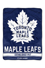 NHL große Decke Toronto Maple Leafs Silk Throw Blanket Ice Dash Eishockey