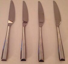 4 GS Gourmet Settings Soprano Bevel Stainless Flatware Dinner Knife Silverware