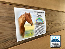 Personalised pet Horse memorial plaque, Bench plaque, Grave marker plaque.