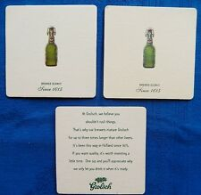 3 Grolsch Beer Mats Coaster Used - 1970s - 2000s