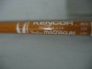 """Kencor 100CFS 6'5"""" Tenlew MAGNAGLASS Fishing Rod 10-30 lb line Made in USA"""